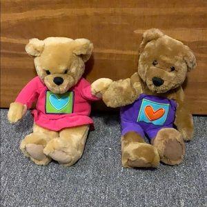 Hallmark Magnetic Nose Velcro Hands Teddy Bears